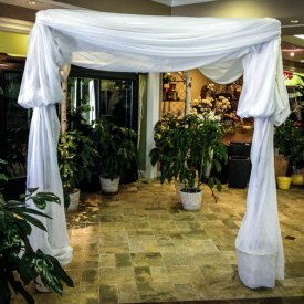 All White Chuppah